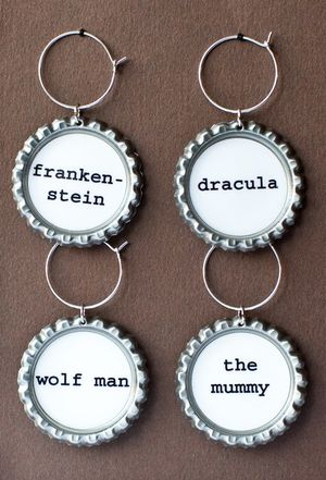Movie monster drink charms