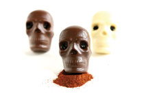 Halloween Chocolate Skulls