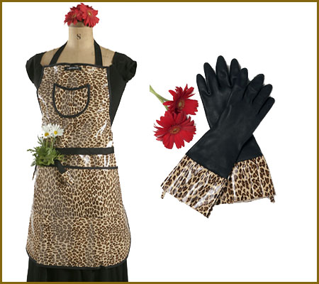 Leopard Apron and Gloves - Rare Bird Finds