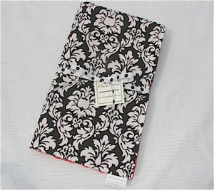 Rare Bird Finds: Cotton Designer-print Damask Baby Blanket :  indie designer damask handmade bird