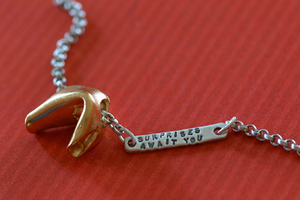 Fortune Cookie Necklaces :  cookie fortune necklaces