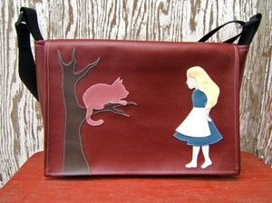 Rare Bird Finds: Shopping Blog for Unique Gifts: Alice in Wonderland Vinyl Messenger Bag